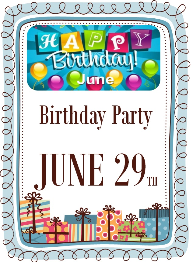 Birthday party JUNE